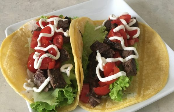 Mojo Skirt Steak Tacos