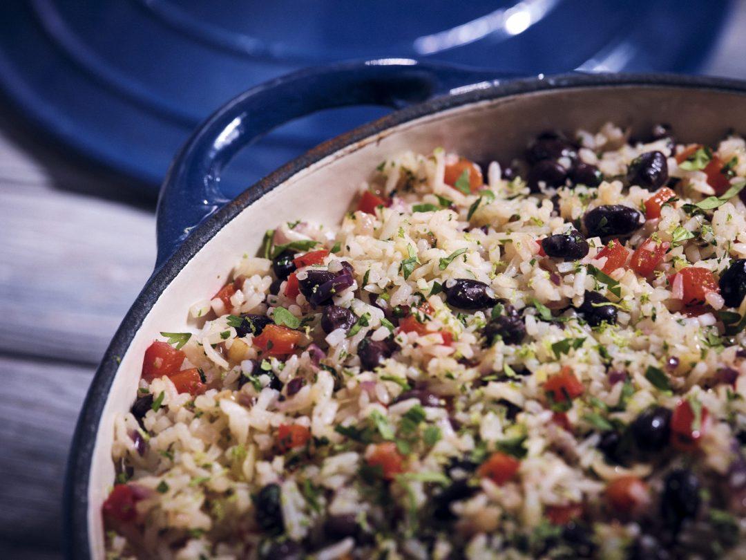 Senor Pepes black beans and rice