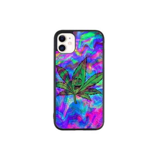 Trippy Weed Leaf Case