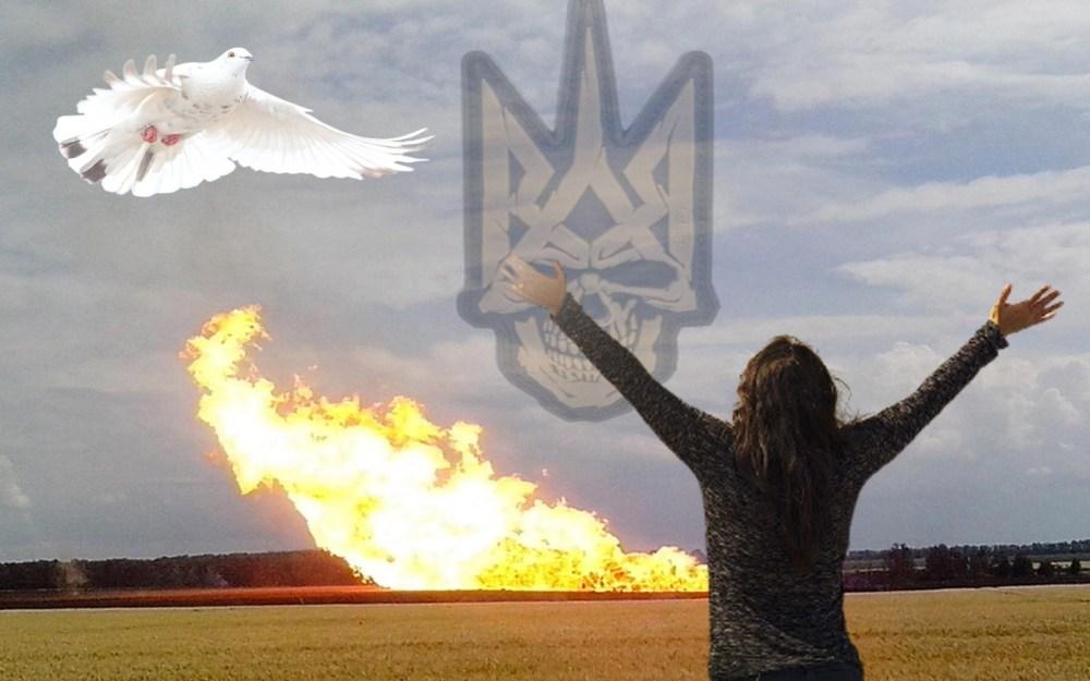 «Мир на Донбассе» на фоне взрыва газопровода посреди морозной зимы