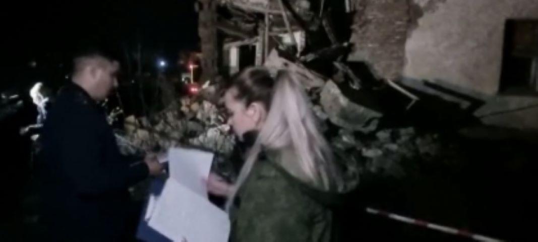В Красноярском крае обрушилась стена двухэтажного жилого дома