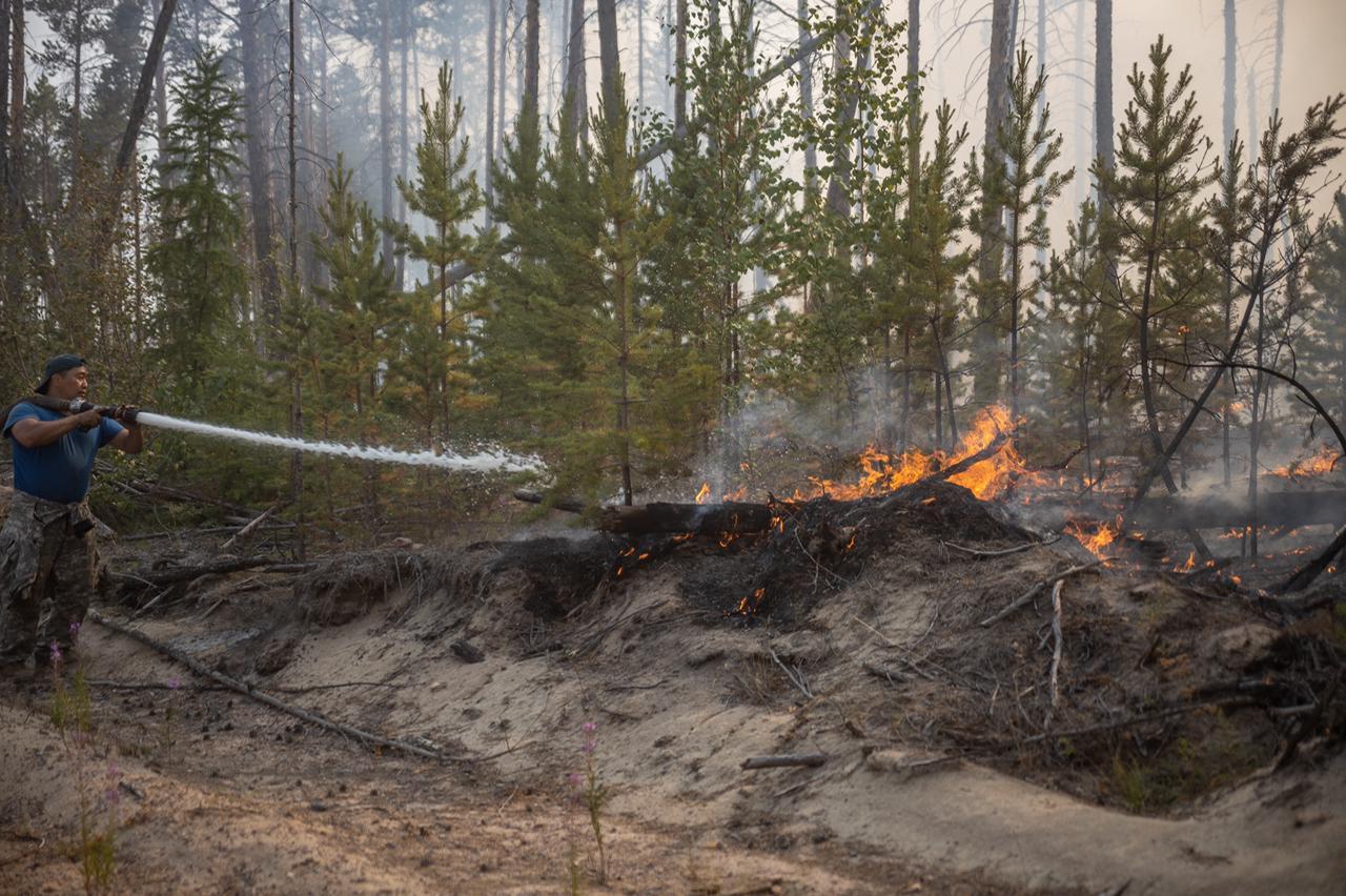 Чрезвычайно высокий класс пожароопасности установился в Якутии
