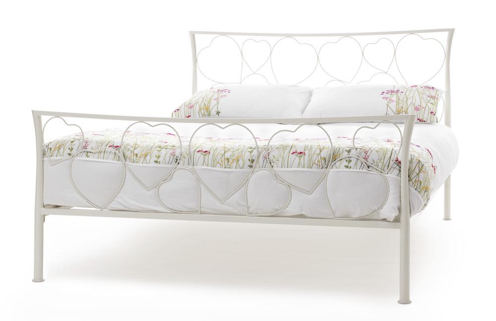 full size sofa bed mattress dimensions slavia prague u19 sofascore romance ivory heart design metal frame - sensation ...
