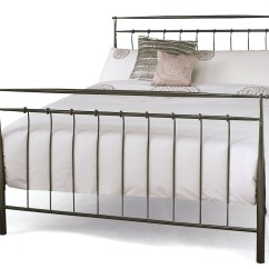 Childrens Sofa Studio Brampton Valencia Titanium Grey Metal Bed Frame - Sensation Sleep ...