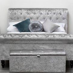 Sofa Bed Boards Support Flexform Torquay Diamante Crystal Silver Fabric Frame ...
