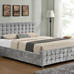 Made To Measure Sofa Beds Uk Luxury Pull Out Sofas Boston Silver Crushed Velvet Diamante Ottoman Bed Frame ...
