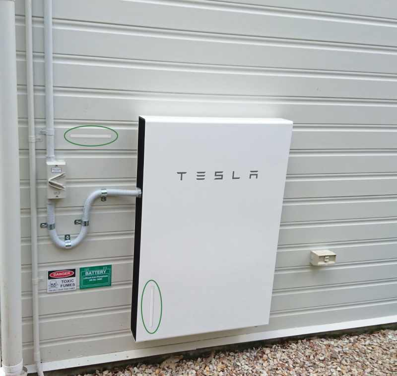 Tesla external wall mount comfort highlighted