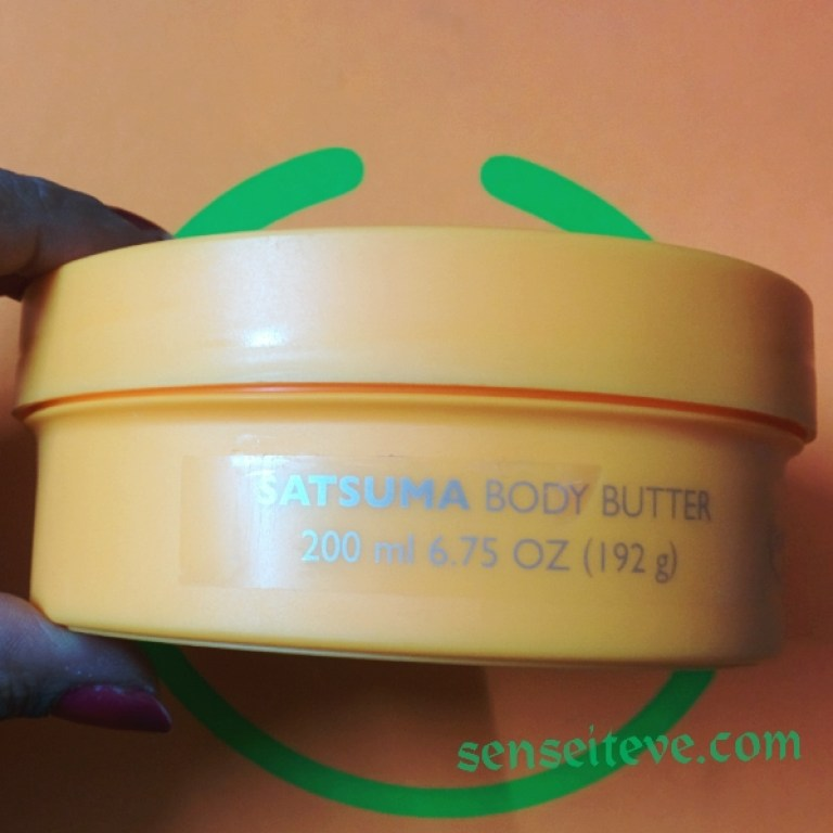 The Body Shop Satsuma Body Butter Review Packaging