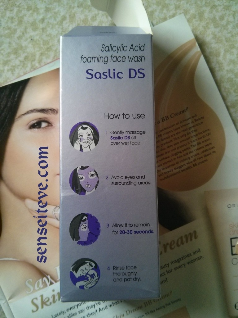 Saslic DS Foaming face wash Review