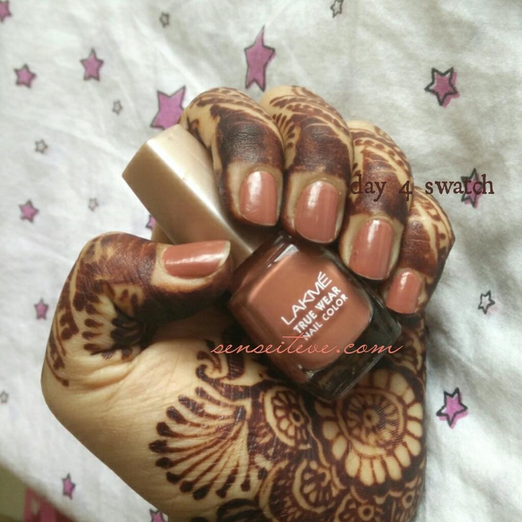 Lakme True Wear Nail Color Freespirit N237 Narendra Kumar - day 4 NOTD