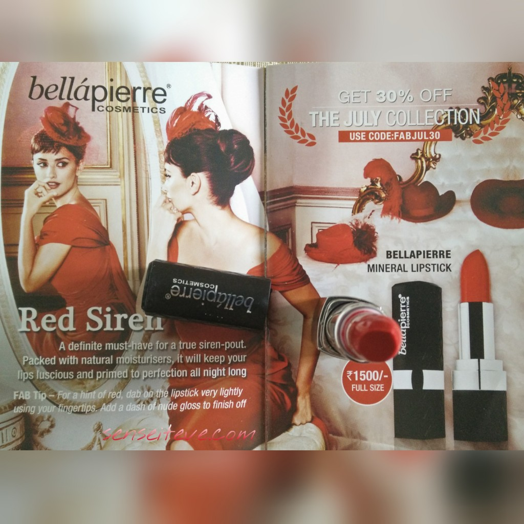 in my Fabbag july 2015-bellapiere mineral lipstick