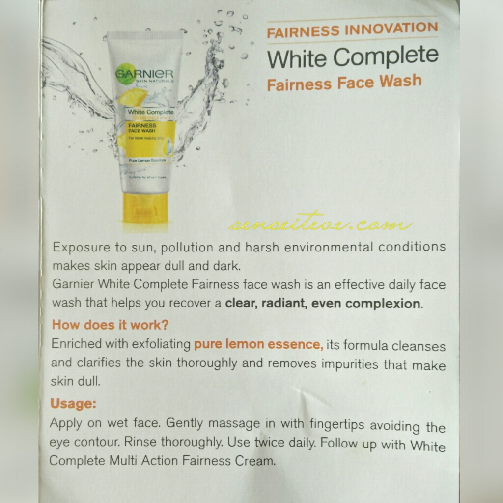 Garnier White Complete Fairness Facewash