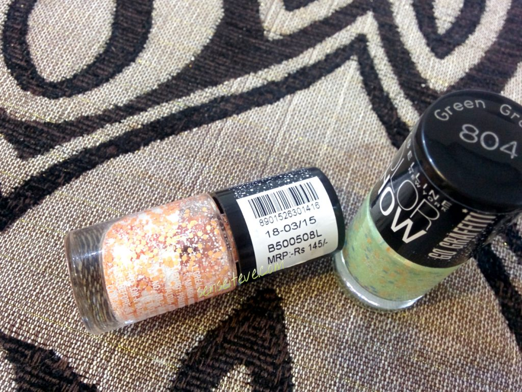 Maybelline Graffiti Nailpaints - Green Graffiti & Flower Power Price