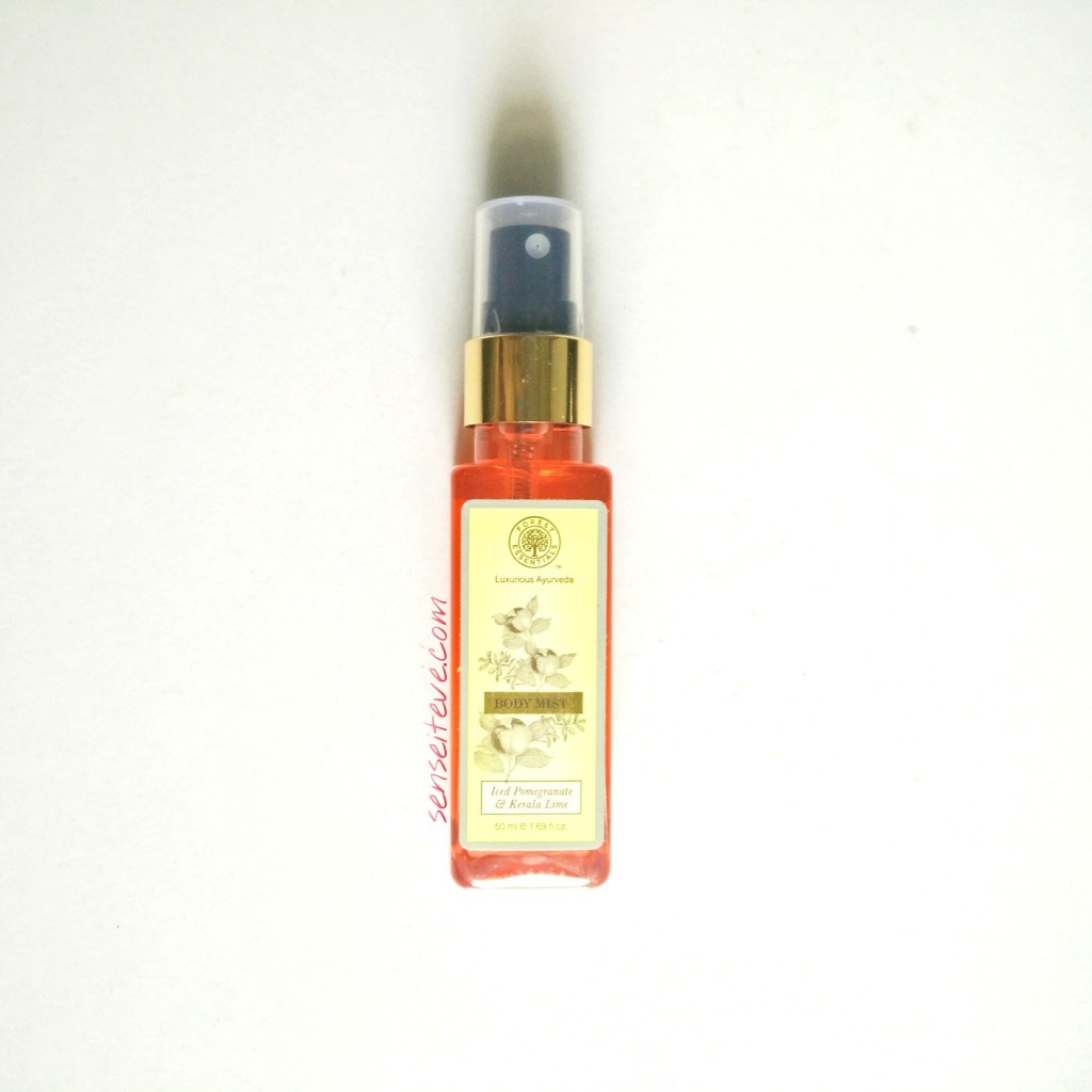 Forrest Essentials Body Mist Iced Pomegranate & Kerala Lime Review
