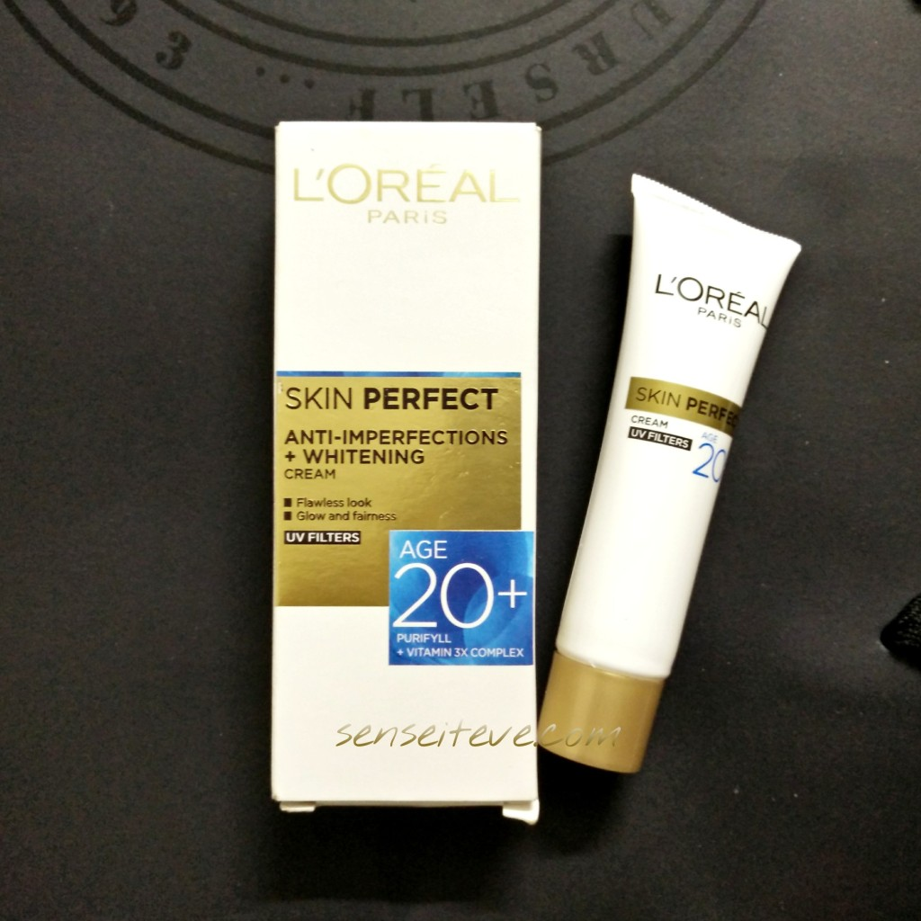 L'oreal Paris Skin Perfect Anti-inperfections +Whitening Cream for Age 20+ Packaging