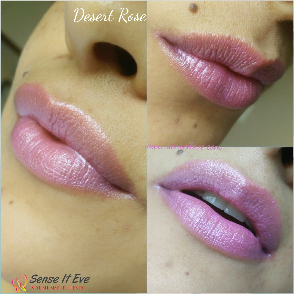Oriflame Pure Colour Lipstick Desert Rose Swatches