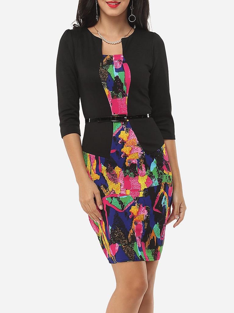 Fashionmia Assorted colors bodycon dress