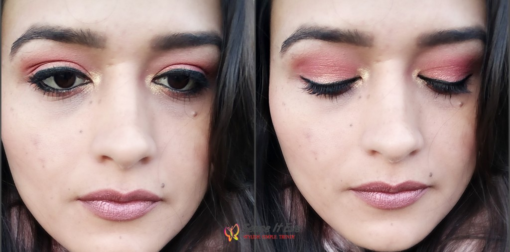 Makeup look : Soft Warm Eyes