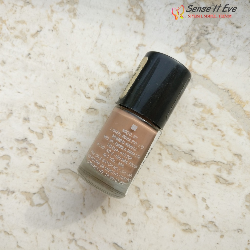 Maybelline Color Show Nail Paint Nude Skin Review, NOTD
