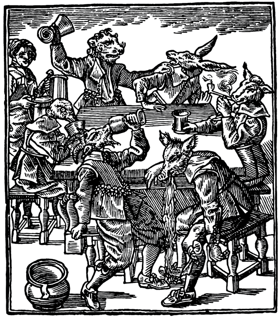 "Here is my retouched and clearer version of the ""Riotous Wynebibbing Beasts"" (aka ""Early Modern Party Animals"")"