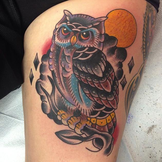Tatuaż Sowa Tattoo Design