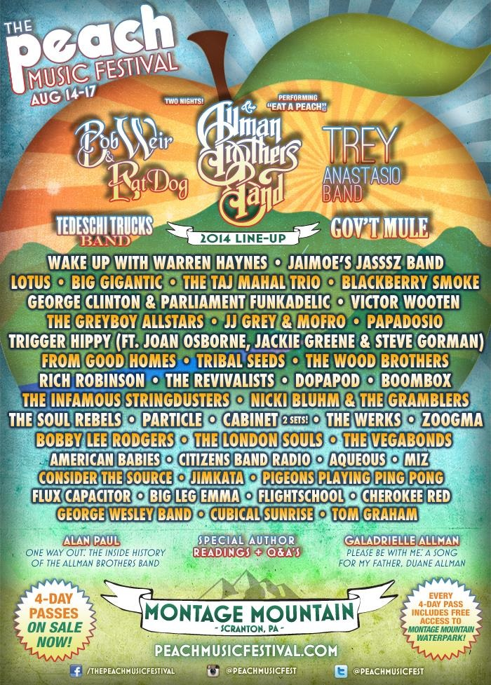 The Peach Music Festival Releases Third and Final Lineup Phase