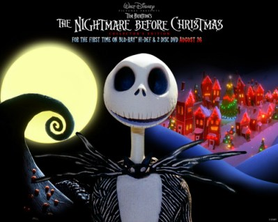 Movie Poster For The Nightmare Before Christmas