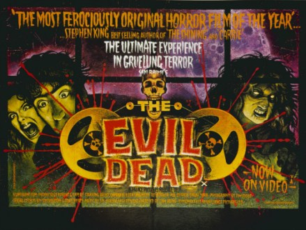 A Movie Poster For The Evil Dead