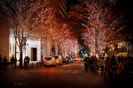 A Photo Of The Highstreet Lit Up For Christmas