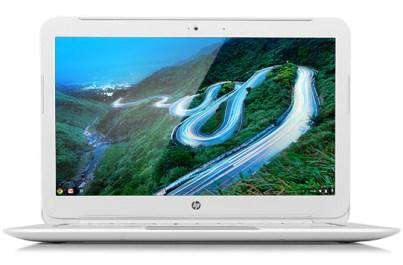 A Photo Of An Open Hp Chromebook