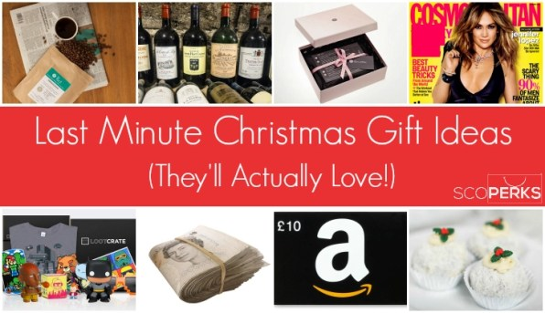 A Collage Of Different Christmas Presents With The Text 'Last Minute Christmas Gift Ideas (They'll Actually Love!)'