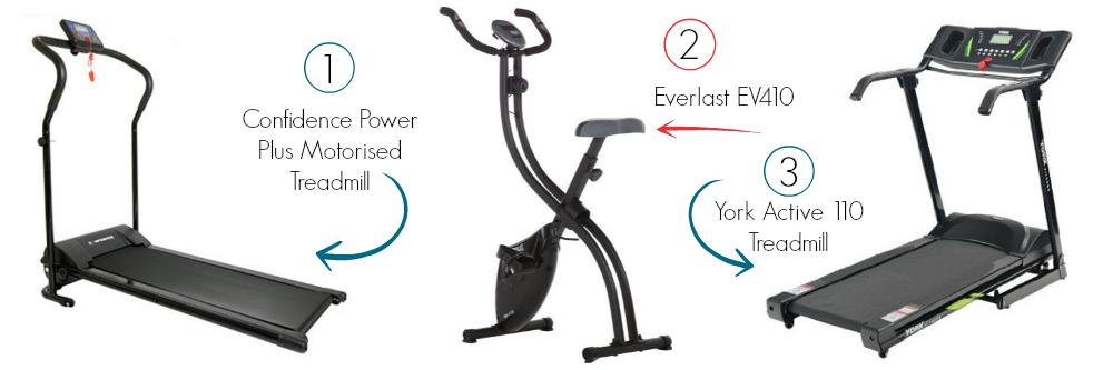 Three Home Gym Ideas - Two Budget Treadmills And A Foldable Everlast Bike