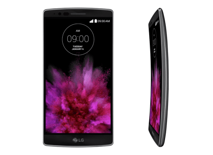 2 Pictures - The LG Flex From The Front, And An LG Flex 3 From The Side
