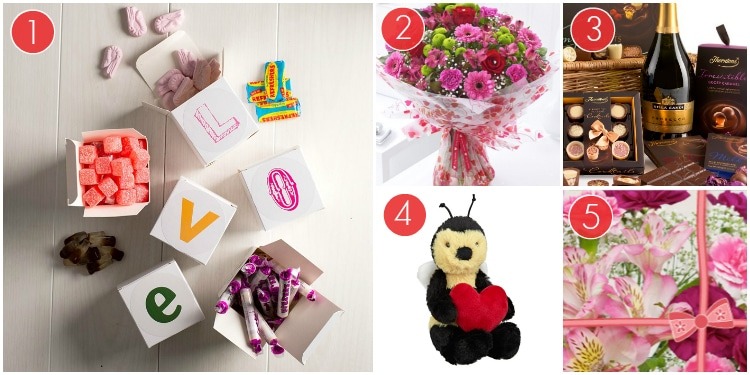 Love Sweet Boxes, A Bouquet Of Flowers, A Chocolate Hamper