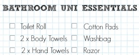 A Cropped Checklist Of Supplies ForYour Bathroom At University