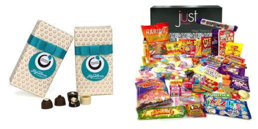 Two Packs Of Lily O'Briens Gift Wrapped Chocolate Boxes, And A Mega Sweet Hamper From Amazon