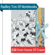 A Hardbacked Case Of 3 Radley Notebooks