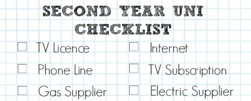 A Cropped Checklist Of House Things You Need To Set Up For Your Second Year Of University