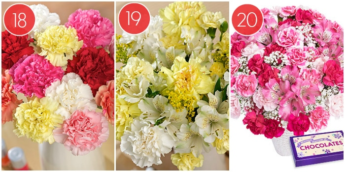 3 Different Bouquets From Bunches