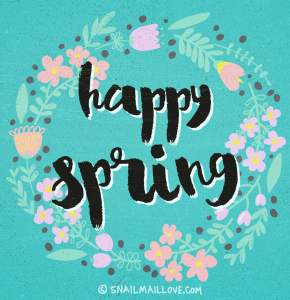 A Blue Happy Spring Printable