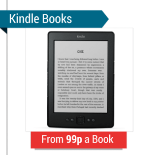 An Amazon Kindle With The Text 'Kindle Books From 99p a Book'