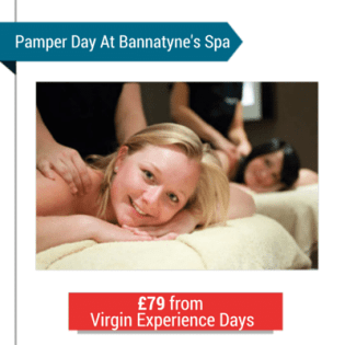 A Woman Having A Massage With The Text 'Pamper Day'