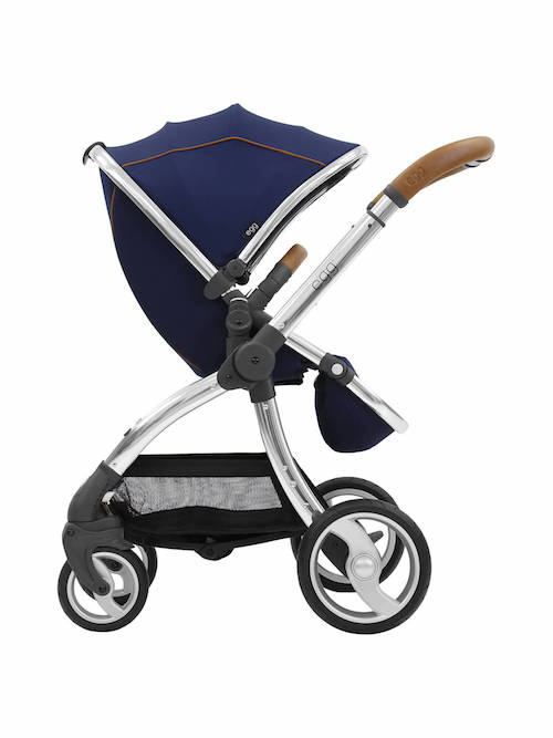egg Stroller Base and Seat with Fleece Liner, Regal Navy