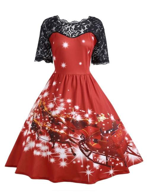 red-christmas-dress