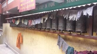 Prayer wheels at Boudhanath Stupa