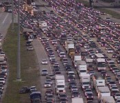 Evacuation traffic during Hurricane Rita
