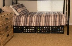 Storing Supplies under beds