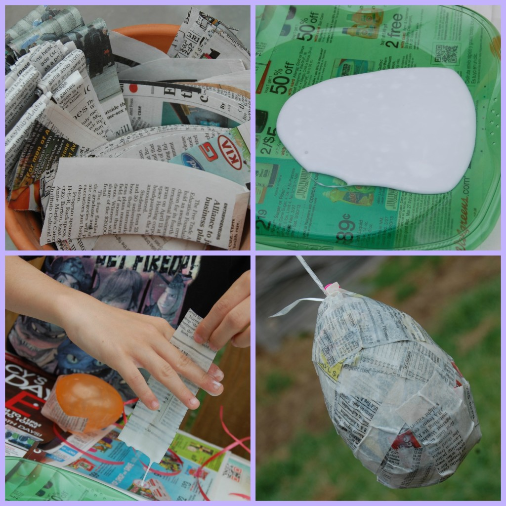 Paper Mch Easter Eggs DIY Craft