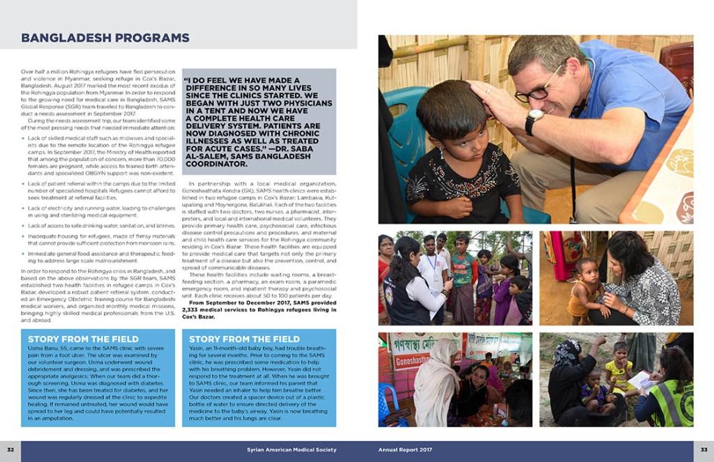 Interior spread: Bangladesh Programs