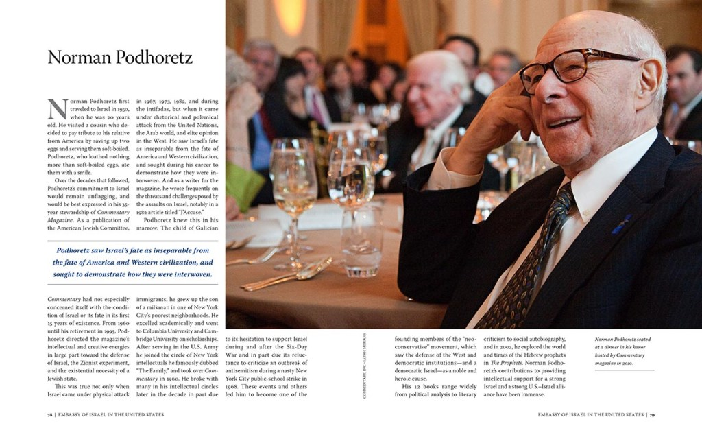Interior spread: Norman Podhoretz